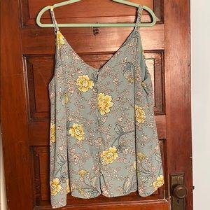 LOFT PLUS Floral Print Crepe Cami